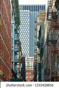 20.05.2016.New York USA,  old colorful classic buildings, facade, architecture, balcony and windows in Soho, Downtown Manhattan