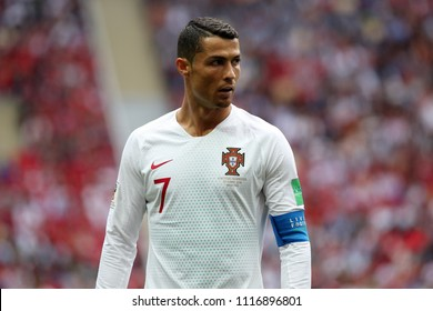 20.06.2018. Moscow, Russian:CRISTIANO RONALDO in action during the Fifa World Cup Russia 2018, Group B, football match between PORTUGAL  V MOROCCO  in Luzhniki Stadium  in Moscow.