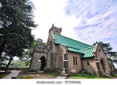 The 200-year old Christ Church in Kasauli, Himachal Pradesh state, India.