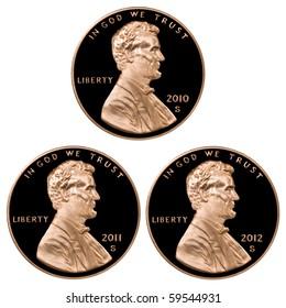 2010 2011 2012 Pennies