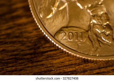2011 (word) on United States Gold Buffalo Coin
