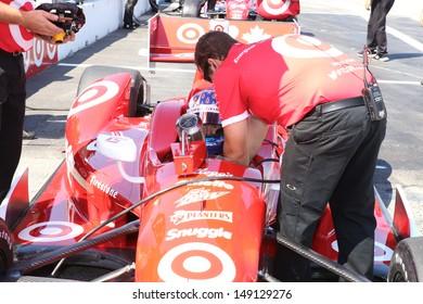 2013 Honda Indy in Toronto, June 14th, 2013 with Scott Dixon.