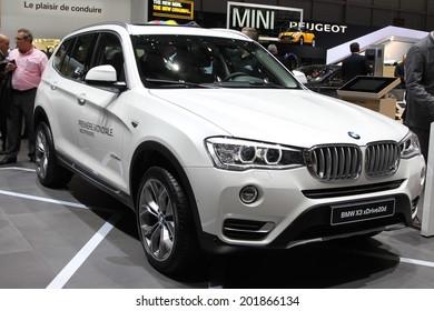 2014 BMW X3 presented at the 84th International Geneva Motor Show on March 4, 2014 in Palexpo, Geneva, Switzerland