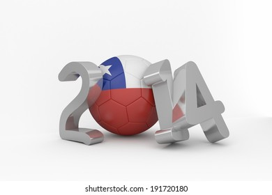 2014 for chile on white background