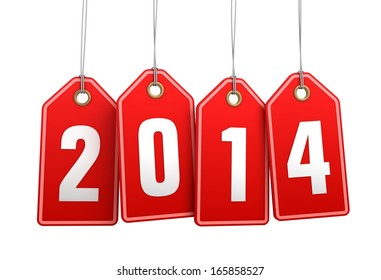 2014 new year shopping tags
