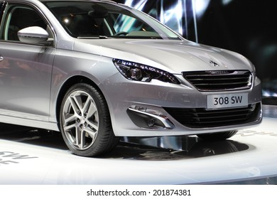 2014 Peugeot 308 SW presented at the 84th International Geneva Motor Show on March 4, 2014 in Palexpo, Geneva, Switzerland