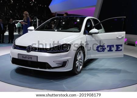 d768621ecaa5 2014 Volkswagen Golf GTE presented the 84th International Geneva Motor Show  on March 4