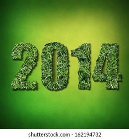 2014 Year Green Grass Figures
