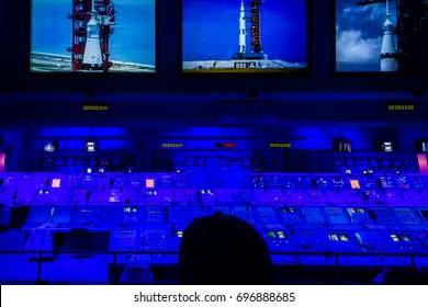 [2014-12-14] Apollo mission control center at Kennedy Space Center, Florida, USA