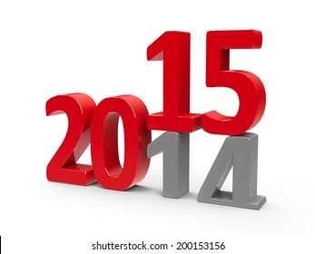 2014-2015 change represents the new year 2014, three-dimensional rendering