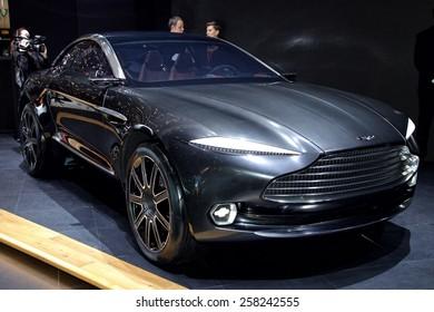 2015 Aston Martin DBX Concept presented  the 85th International Geneva Motor Show on March 3, 2015 in Palexpo, Geneva, Switzerland