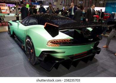 2015 Aston Martin Vulcan presented  the 85th International Geneva Motor Show on March 3, 2015 in Palexpo, Geneva, Switzerland
