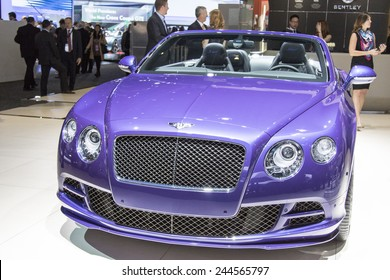 The 2015 Bentley GTS speed convertible at The North American International Auto Show January 12, 2015 in Detroit, Michigan.