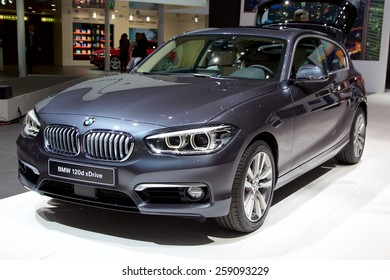 2015 BMW 1-Series presented the 85th International Geneva Motor Show on March 3, 2015 in Palexpo, Geneva, Switzerland