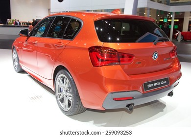 2015 BMW M135i xDrive presented the 85th International Geneva Motor Show on March 3, 2015 in Palexpo, Geneva, Switzerland