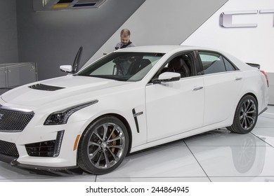 The 2015 Cadillac CTS sedan at The North American International Auto Show January 13, 2015 in Detroit, Michigan.