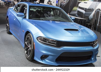 The 2015 Dodge Charger at The North American International Auto Show January 13, 2015 in Detroit, Michigan.