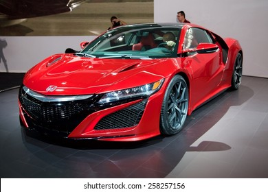 2015 Honda NSX presented the 85th International Geneva Motor Show on March 3, 2015 in Palexpo, Geneva, Switzerland