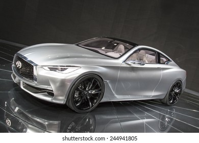 The 2015 Infiniti Q60 Concept at The North American International Auto Show January 13, 2015 in Detroit, Michigan.