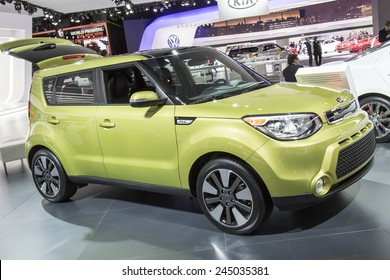 The 2015 Kia Soul at The North American International Auto Show January 13, 2015 in Detroit, Michigan.