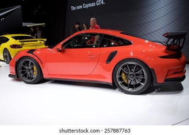 2015 Porsche 911 GT3 RS presented  the 85th International Geneva Motor Show on March 3, 2015 in Palexpo, Geneva, Switzerland
