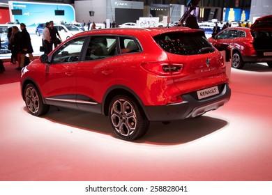 2015 Renault Kadjar presented the 85th International Geneva Motor Show on March 3, 2015 in Palexpo, Geneva, Switzerland