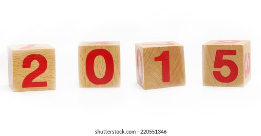 2015 - sign for the new year as a calendar date in numbers