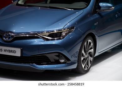 2015 Toyota Auris Hybrid presented the 85th International Geneva Motor Show on March 3, 2015 in Palexpo, Geneva, Switzerland