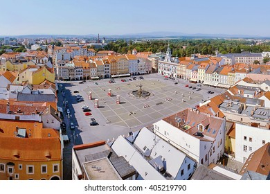 2015-07-04 - Ceske budejovice city, Czech republic - Namesti Premysla Otakara II. square in Ceske Budejovice (Budweis)