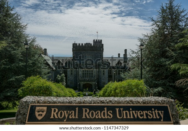 2015-August-04: Royal Roads University located at Colwood (Victoria) British Columbia Canada. In the background Hatley Castle a National Historic Site.