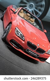 The 2016 BMW 650i convertible at The North American International Auto Show January 13, 2015 in Detroit, Michigan.