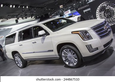 The 2016 Cadillac Escalade at The North American International Auto Show January 13, 2015 in Detroit, Michigan.