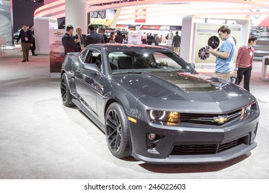 The 2016 Chevrolet Camaro at The North American International Auto Show January 13, 2015 in Detroit, Michigan.