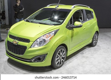 The 2016 Chevrolet Spark at The North American International Auto Show January 13, 2015 in Detroit, Michigan.