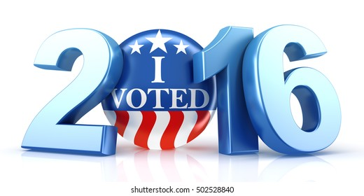 2016 election - 3d rendering