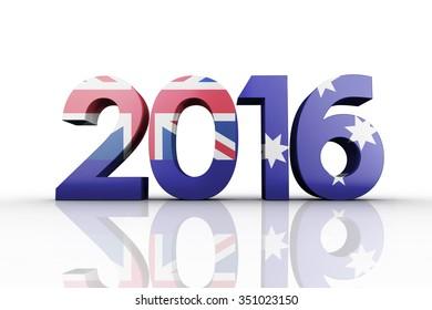 2016 graphic against australia national flag