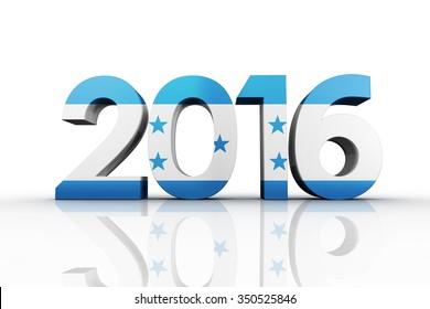 2016 graphic against honduras national flag