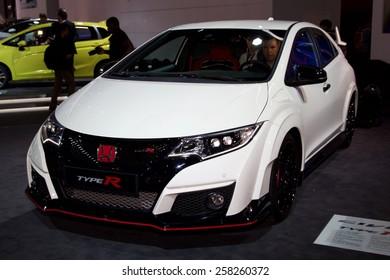 2016 Honda Civic Type R presented the 85th International Geneva Motor Show on March 3, 2015 in Palexpo, Geneva, Switzerland