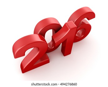 2016 New Year digits, 3D illustration