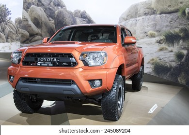 The 2016 Toyota Tacoma at The North American International Auto Show January 13, 2015 in Detroit, Michigan.