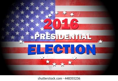 2016 USA Presidential Election on grunge USA FLAG