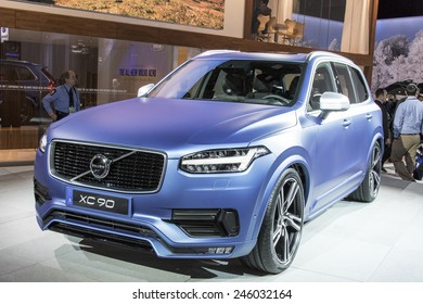 The 2016 Volvo xc90 at The North American International Auto Show January 13, 2015 in Detroit, Michigan.