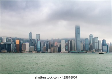 2016/04/11 Hong Kong, skyscrapers in the haze