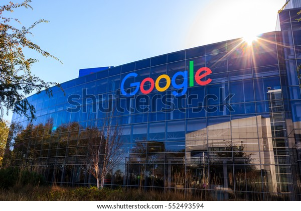 """[2016-12-26] """"Googleplex"""", Google Headquarters, Mountain View, California. Google logo on the office building is in this photo"""
