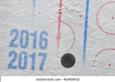 2016-2017 season, the accessories and hockey on the ice. Concept