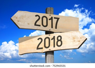 2017/ 2018 - signpost/ road sign