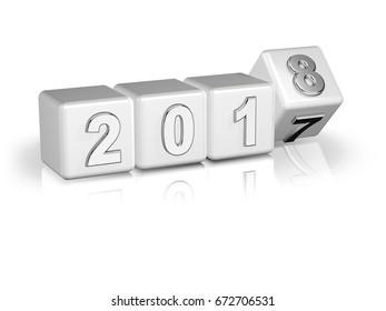 2017 3D boxes white silver