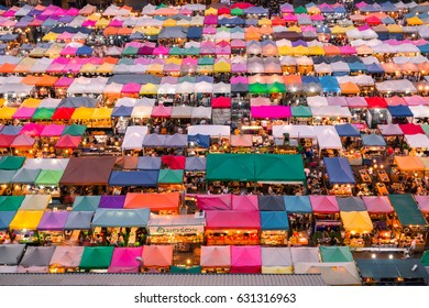 2017 , April 9 :Bangkok ,Thailand - the Colorful Night Market Ratchada, also known as Talad Nud Rod Fai Ratchada is a shopping street for tourism in Bangkok, Thailand.