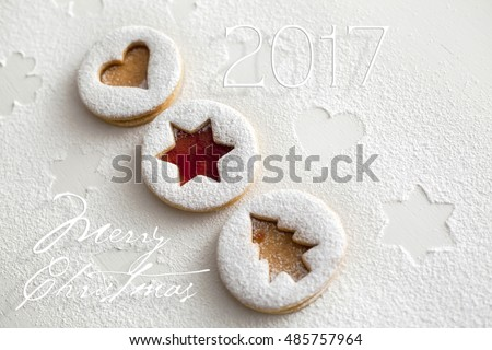 2017 Christmas and new year gingerbread cookies with honey