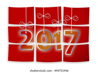 2017 is coming! Concept image in puzzle shape